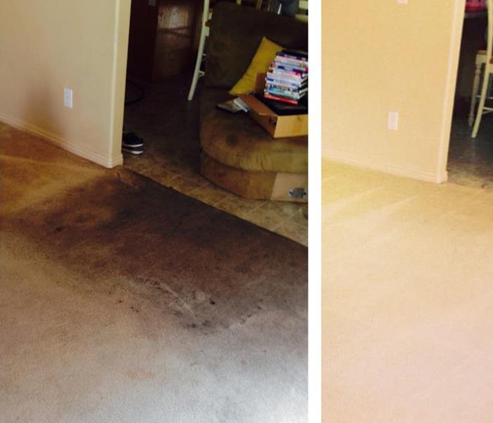 Carpet Cleaning after Fire Damage Before
