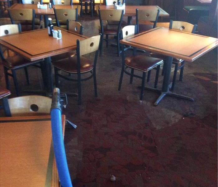 Restaurant Damaged From Flooding After